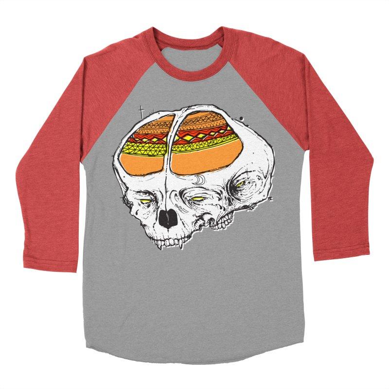 Wolf Shamen Women's Baseball Triblend T-Shirt by Garrett Shane Bryant
