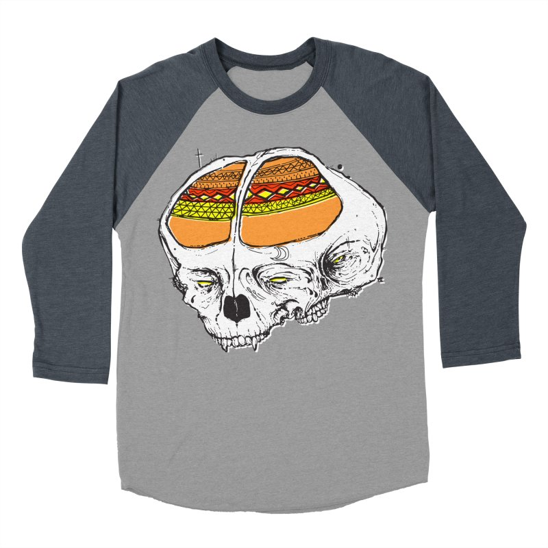 Wolf Shamen Men's Baseball Triblend T-Shirt by Garrett Shane Bryant
