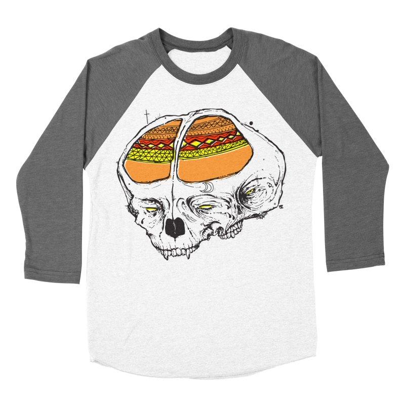 Wolf Shamen Men's Baseball Triblend Longsleeve T-Shirt by Garrett Shane Bryant