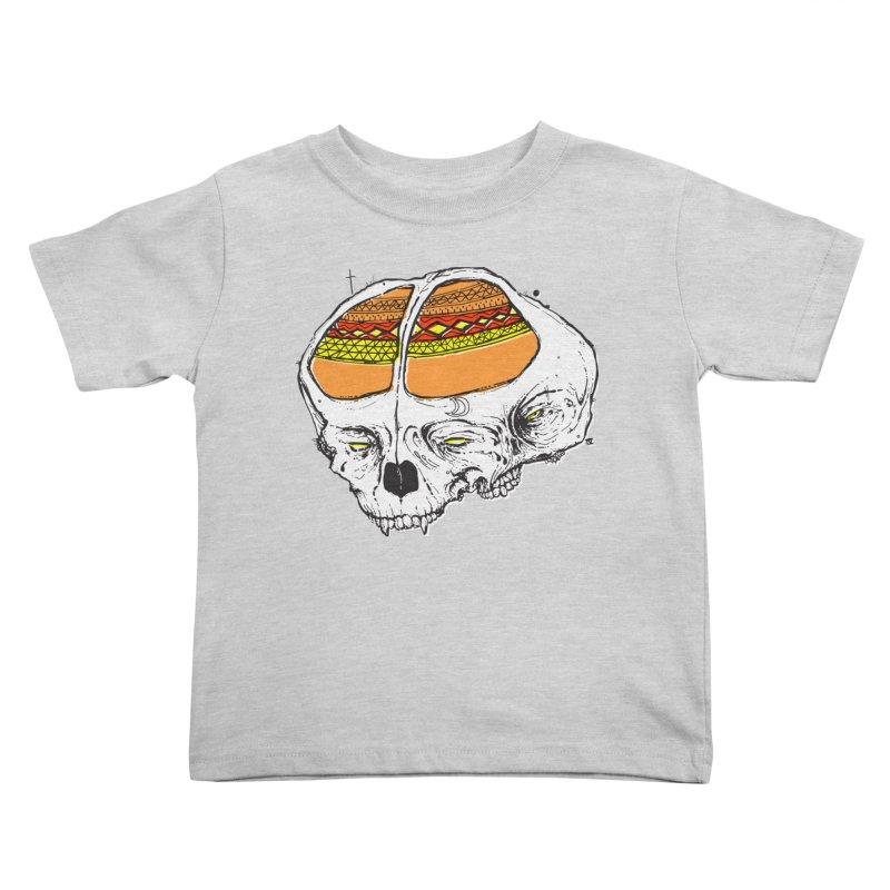 Wolf Shamen Kids Toddler T-Shirt by Garrett Shane Bryant