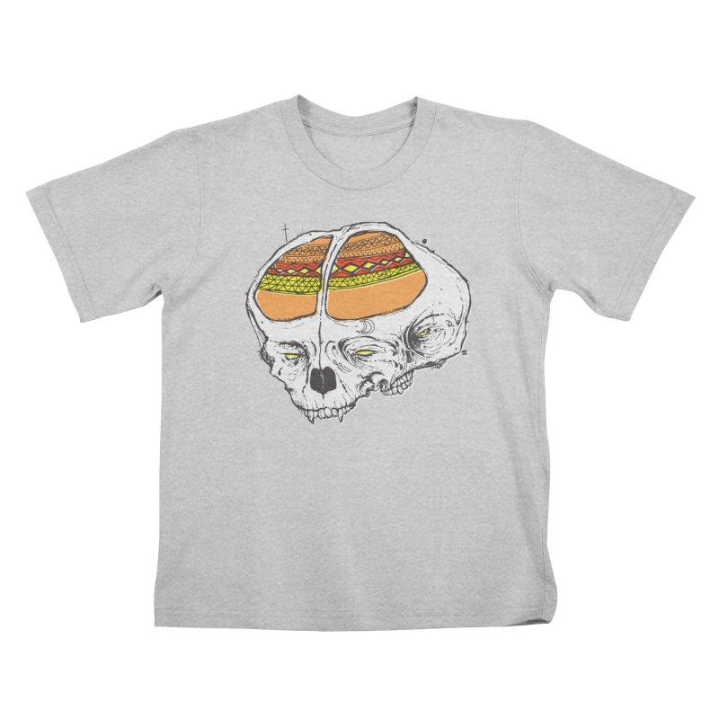 Wolf Shamen Kids T-Shirt by Garrett Shane Bryant