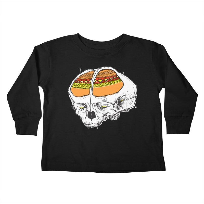 Wolf Shamen Kids Toddler Longsleeve T-Shirt by Garrett Shane Bryant