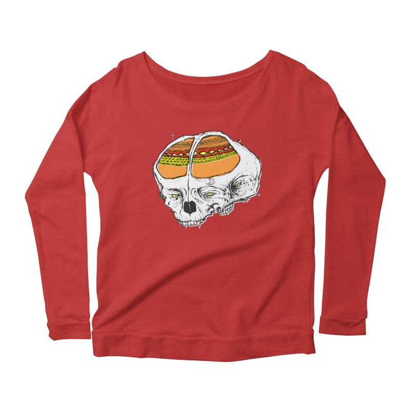 Wolf Shamen Women's Scoop Neck Longsleeve T-Shirt by Garrett Shane Bryant