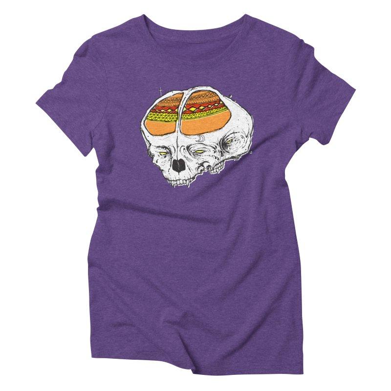 Wolf Shamen Women's Triblend T-Shirt by Garrett Shane Bryant