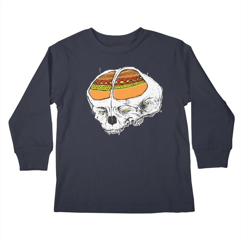 Wolf Shamen Kids Longsleeve T-Shirt by Garrett Shane Bryant