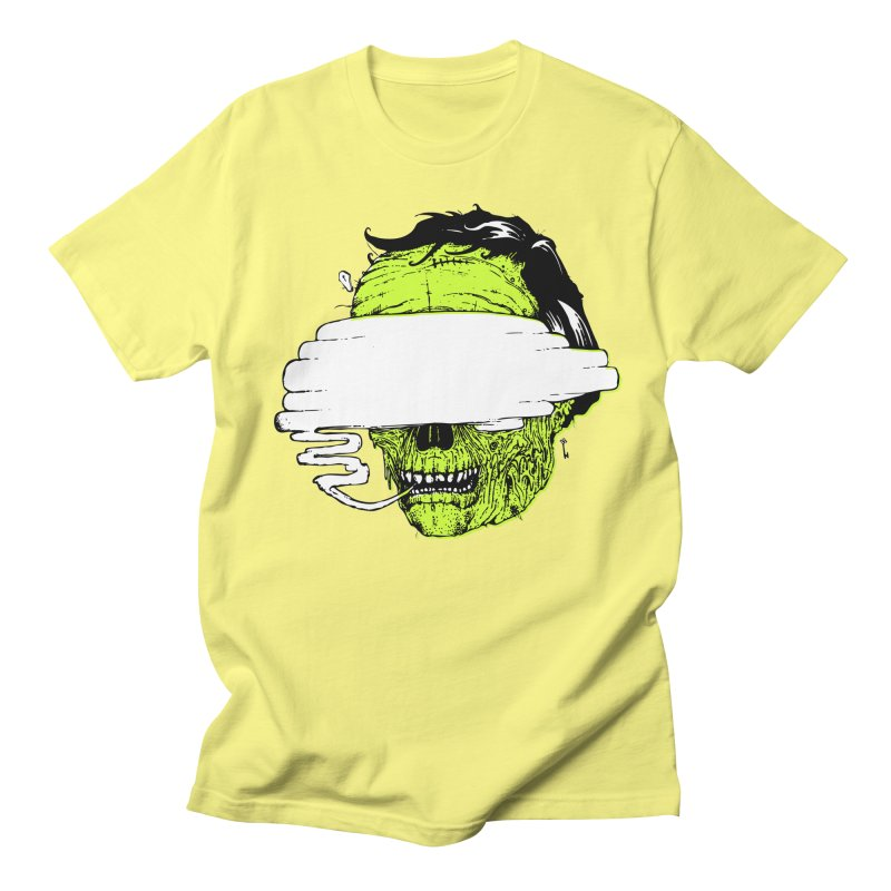 Speeeeeak in Men's Regular T-Shirt Lemon by Garrett Shane Bryant