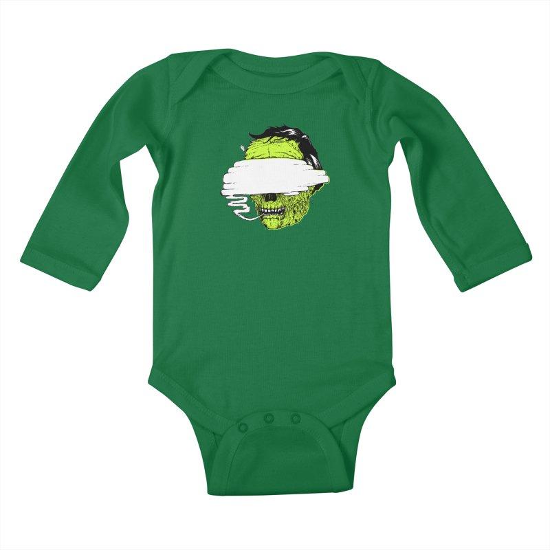 Speeeeeak Kids Baby Longsleeve Bodysuit by Garrett Shane Bryant