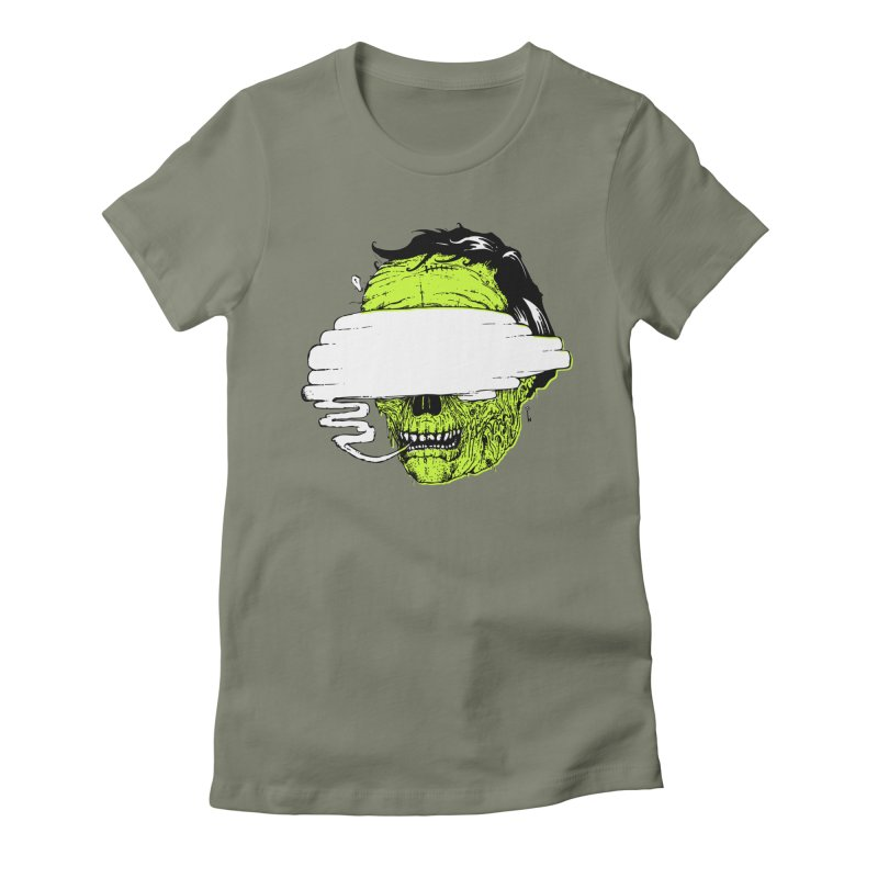Speeeeeak Women's Fitted T-Shirt by Garrett Shane Bryant