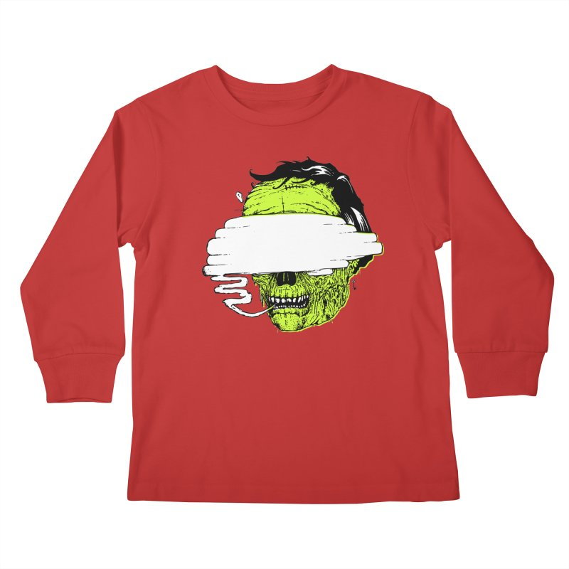Speeeeeak Kids Longsleeve T-Shirt by Garrett Shane Bryant