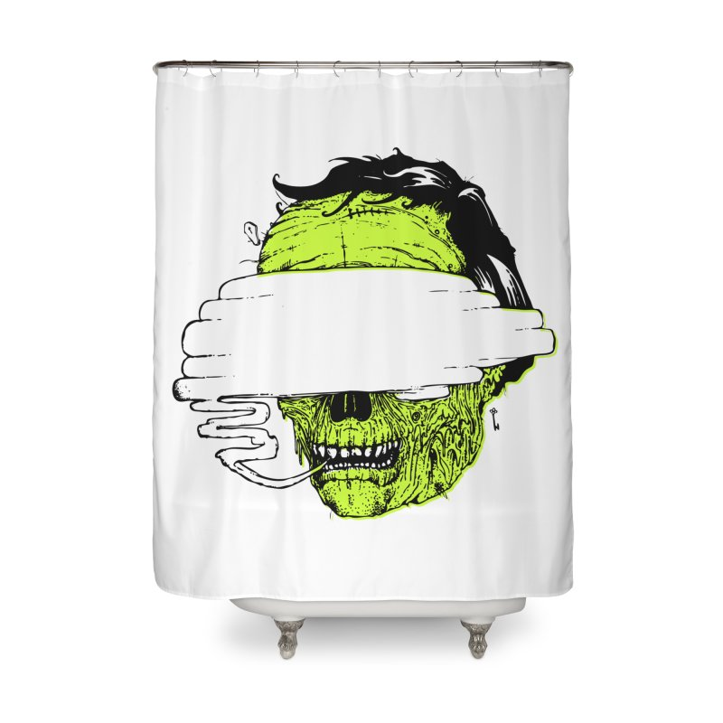 Speeeeeak Home Shower Curtain by Garrett Shane Bryant