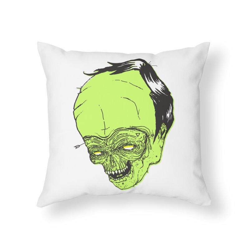 Swingset Creeper Home Throw Pillow by Garrett Shane Bryant