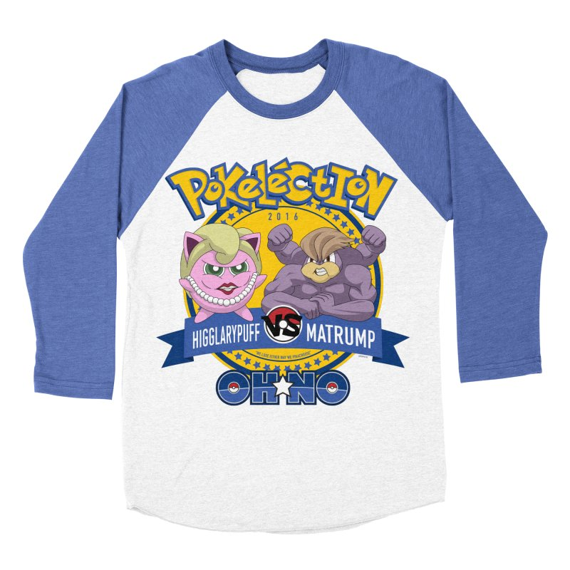 Pokelection OH NO! Men's Baseball Triblend T-Shirt by GabachoTrece's Artist Shop