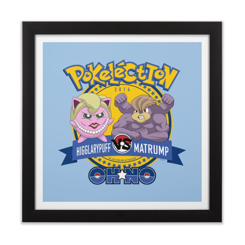 Pokelection OH NO! Home Framed Fine Art Print by GabachoTrece's Artist Shop