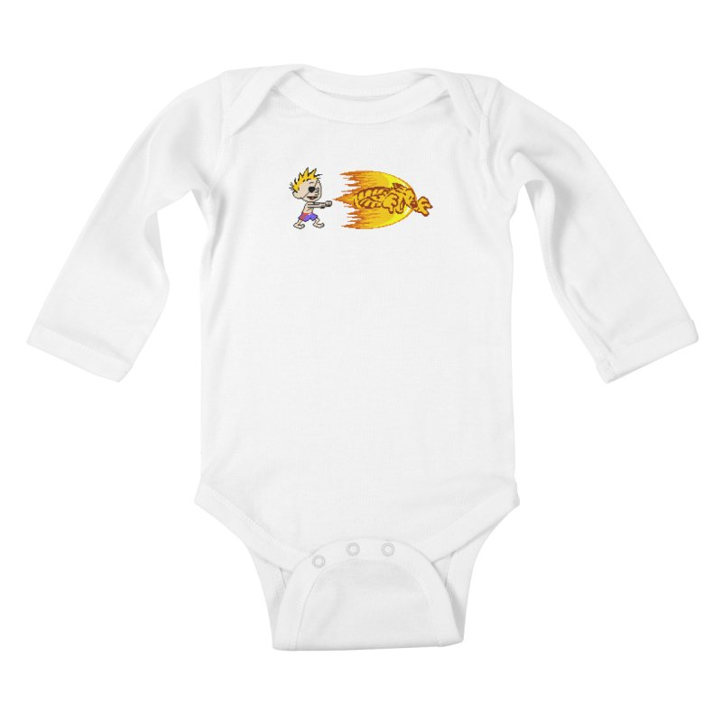 Tigershot Kids Baby Longsleeve Bodysuit by GabachoTrece's Artist Shop