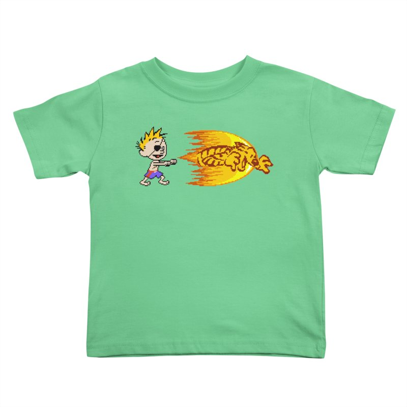 Tigershot Kids Toddler T-Shirt by GabachoTrece's Artist Shop