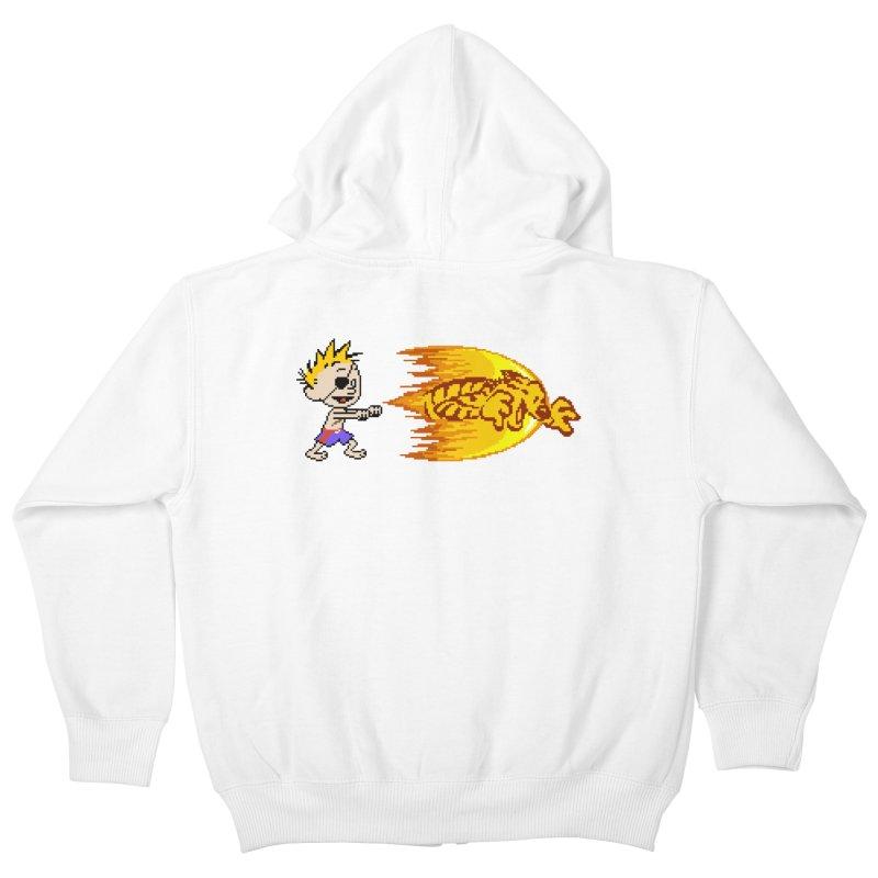 Tigershot Kids Zip-Up Hoody by GabachoTrece's Artist Shop