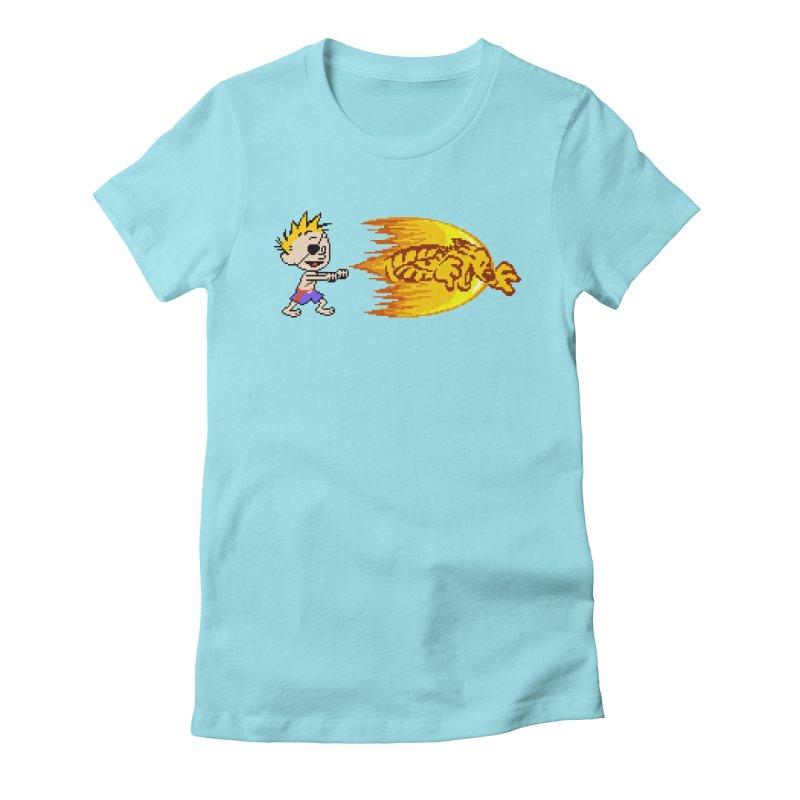Tigershot Women's Fitted T-Shirt by GabachoTrece's Artist Shop