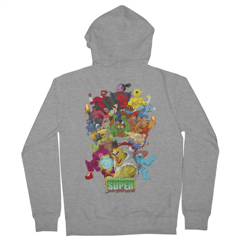 Super Sesame Street Fighter Men's Zip-Up Hoody by GabachoTrece's Artist Shop
