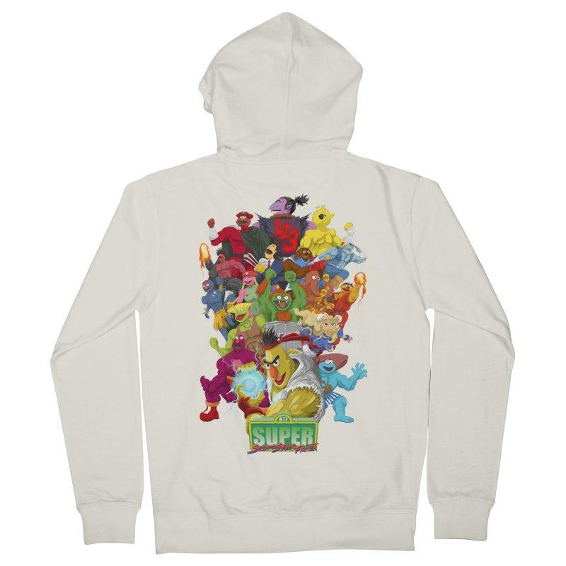 Super Sesame Street Fighter Men's Zip-Up Hoody by GabachoTrece's Artist Shop