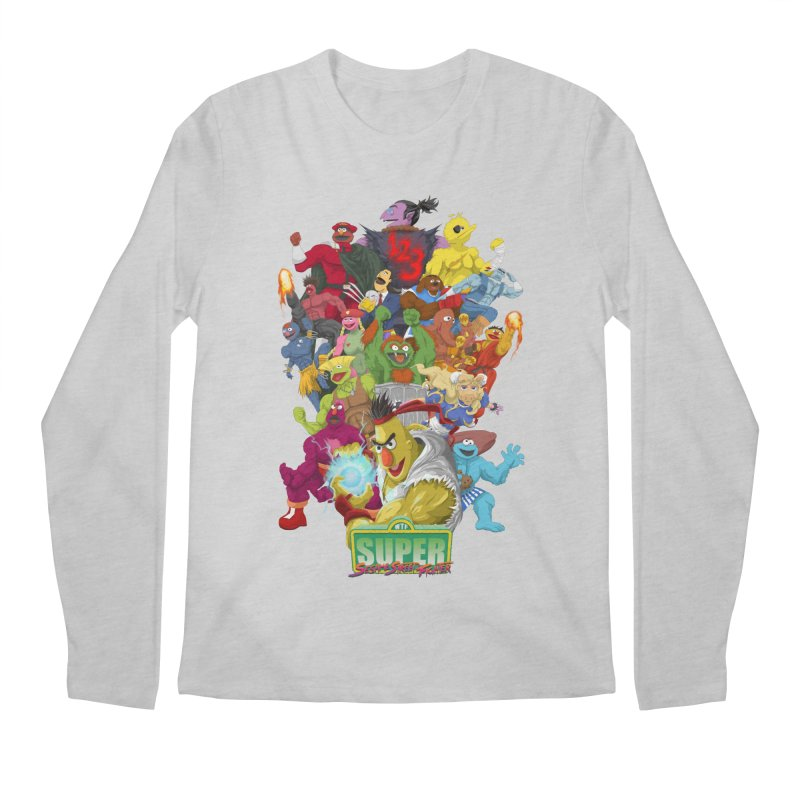 Super Sesame Street Fighter Men's Longsleeve T-Shirt by GabachoTrece's Artist Shop