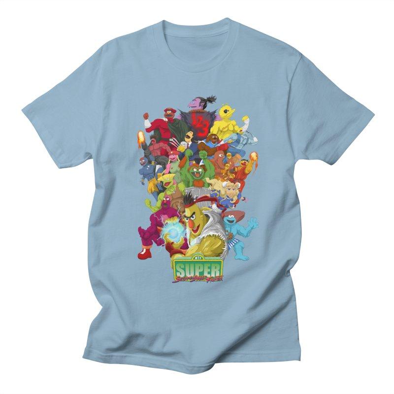 Super Sesame Street Fighter Men's T-shirt by GabachoTrece's Artist Shop