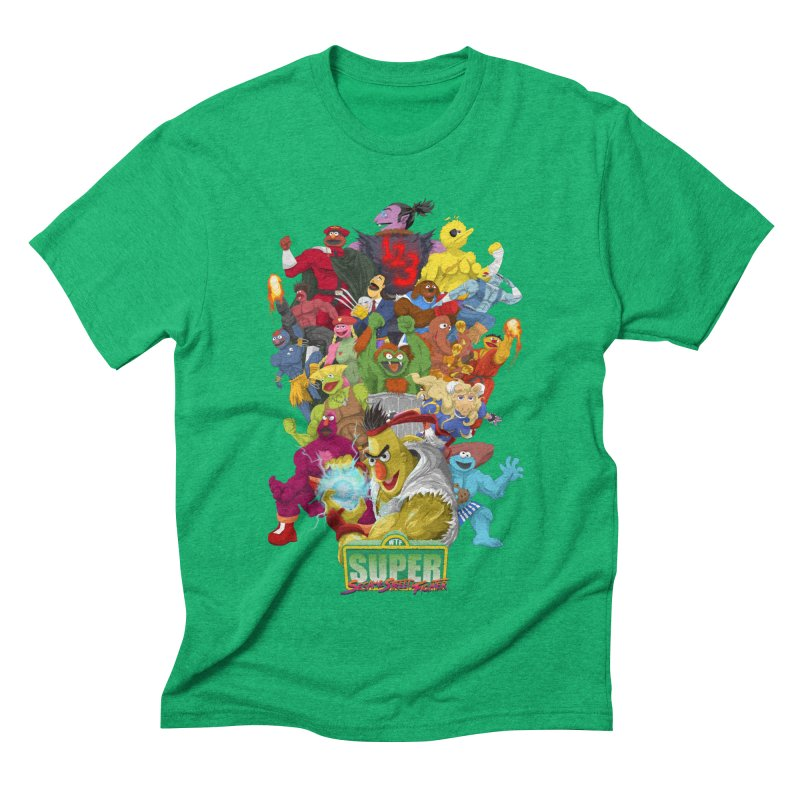 Super Sesame Street Fighter Men's Triblend T-shirt by GabachoTrece's Artist Shop