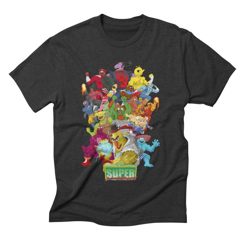 Super Sesame Street Fighter Men's Triblend T-shirt by GabachoTrece's Artist Shop