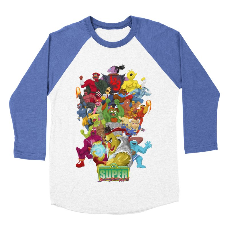 Super Sesame Street Fighter Women's Longsleeve T-Shirt by GabachoTrece's Artist Shop