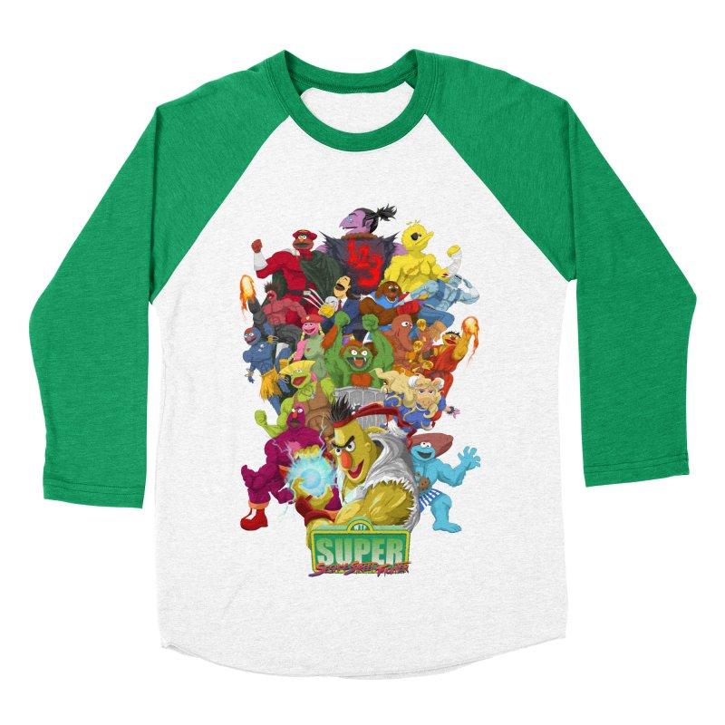 Super Sesame Street Fighter Women's Baseball Triblend T-Shirt by GabachoTrece's Artist Shop