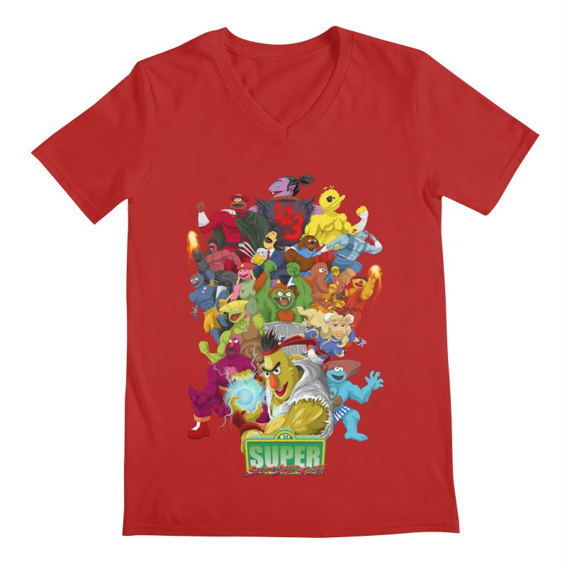 Super Sesame Street Fighter Men's V-Neck by GabachoTrece's Artist Shop