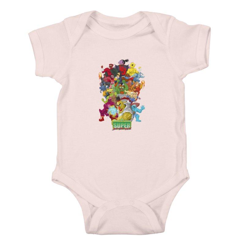 Super Sesame Street Fighter Kids Baby Bodysuit by GabachoTrece's Artist Shop