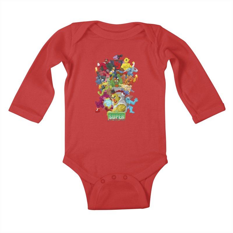 Super Sesame Street Fighter Kids Baby Longsleeve Bodysuit by GabachoTrece's Artist Shop