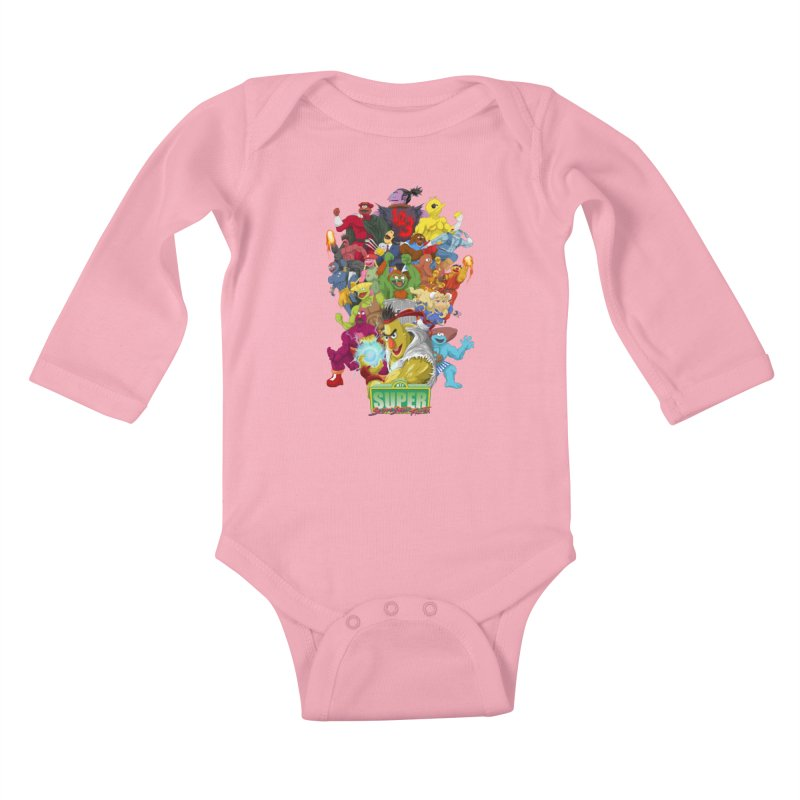 Super Sesame Street Fighter Kids Baby Longsleeve Bodysuit by GabachoTrece's Artist Shop