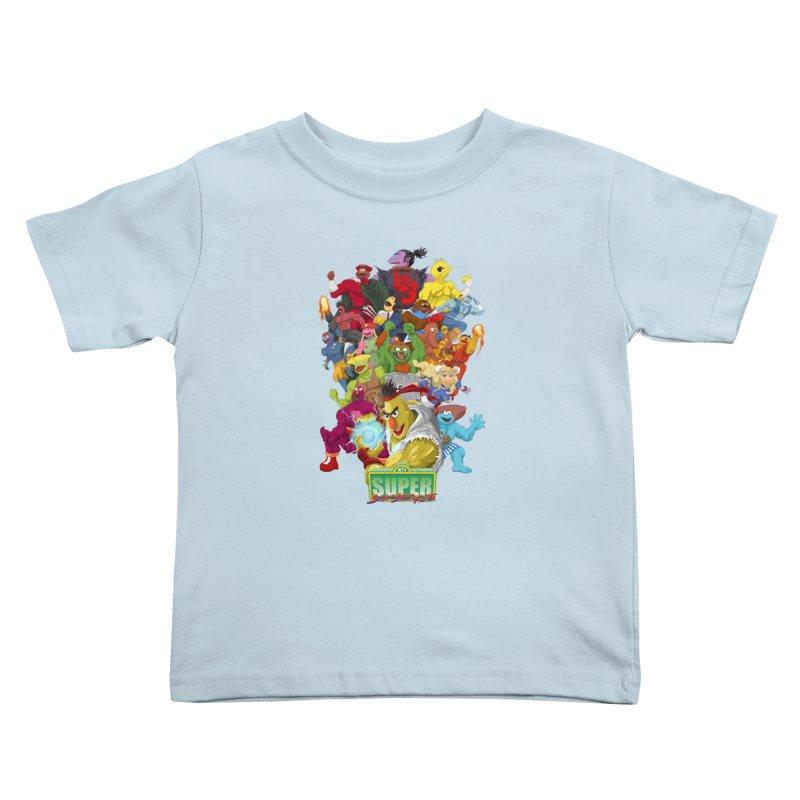 Super Sesame Street Fighter Kids Toddler T-Shirt by GabachoTrece's Artist Shop