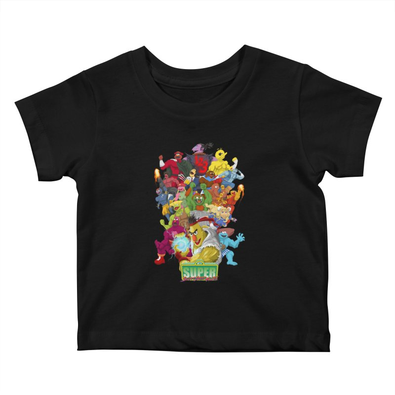 Super Sesame Street Fighter Kids Baby T-Shirt by GabachoTrece's Artist Shop