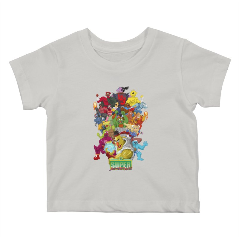 Super Sesame Street Fighter Kids Baby T-Shirt by GabachoTrece's Artist Shop