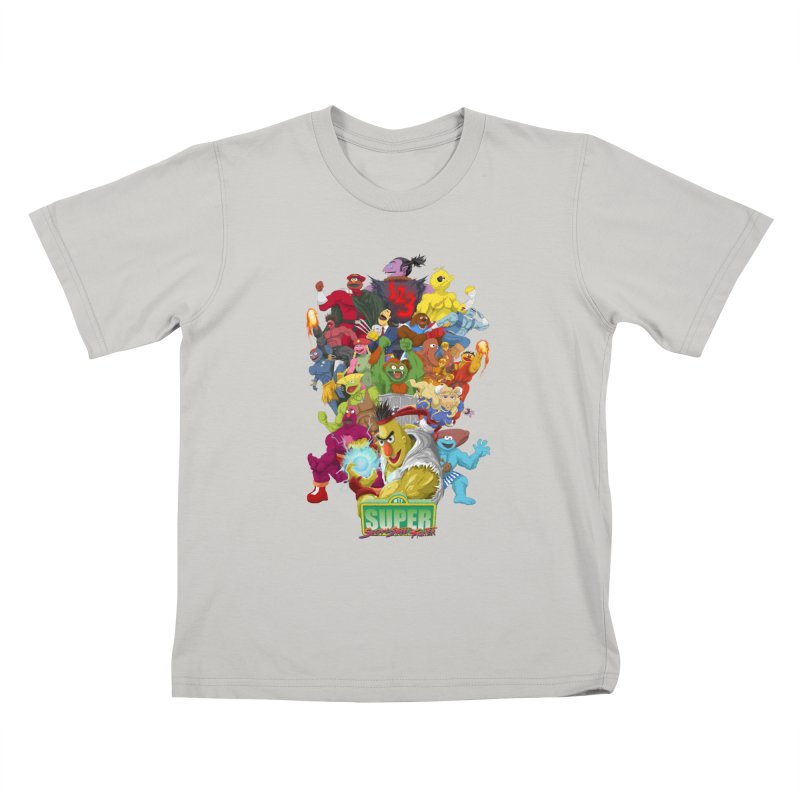 Super Sesame Street Fighter Kids T-shirt by GabachoTrece's Artist Shop