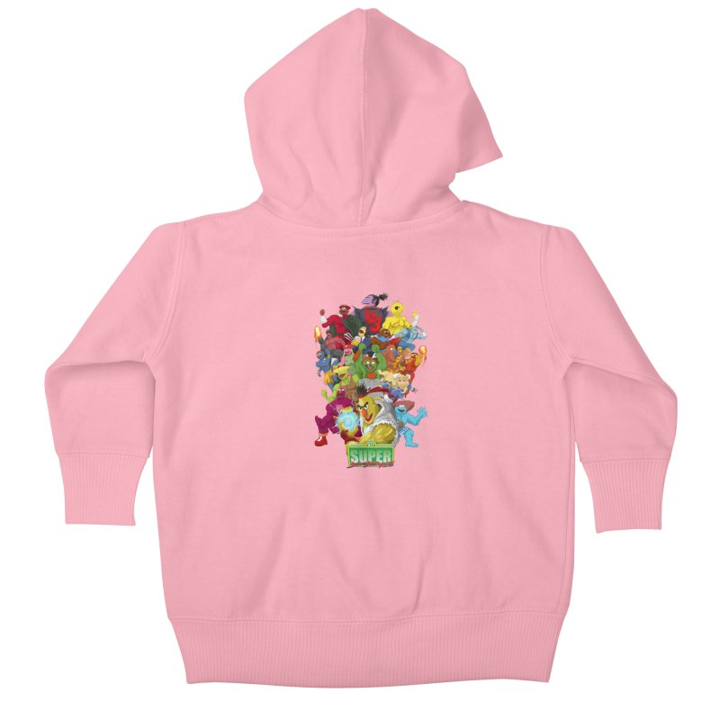 Super Sesame Street Fighter Kids Baby Zip-Up Hoody by GabachoTrece's Artist Shop