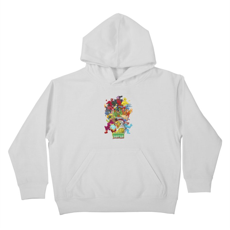 Super Sesame Street Fighter Kids Pullover Hoody by GabachoTrece's Artist Shop