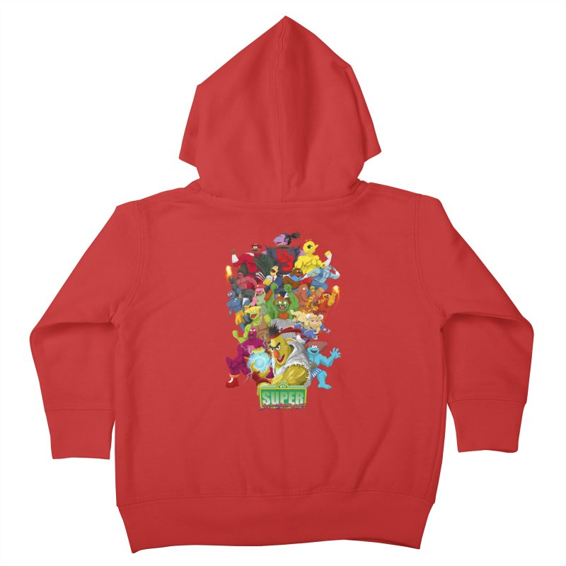 Super Sesame Street Fighter Kids Toddler Zip-Up Hoody by GabachoTrece's Artist Shop