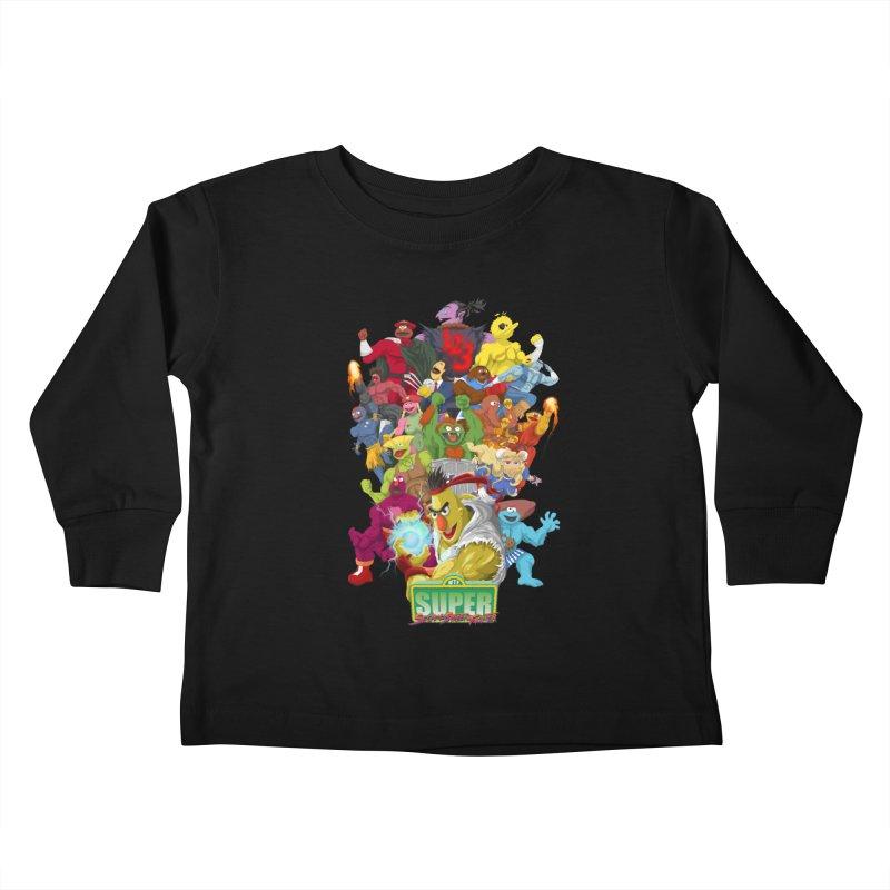 Super Sesame Street Fighter Kids Toddler Longsleeve T-Shirt by GabachoTrece's Artist Shop
