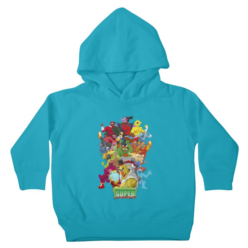 Super Sesame Street Fighter Kids Toddler Pullover Hoody by GabachoTrece's Artist Shop