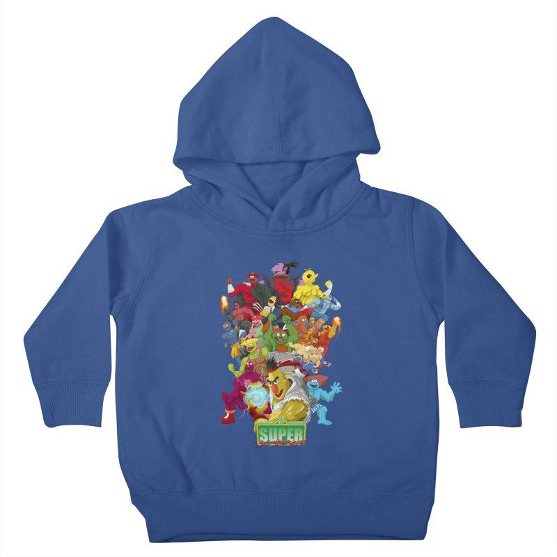 Super Sesame Street Fighter Kids Toddler Pullover Hoody by GabachoTrece's Artist Shop