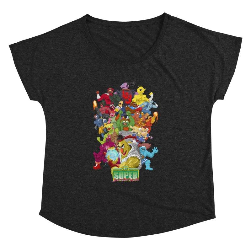 Super Sesame Street Fighter Women's Dolman by GabachoTrece's Artist Shop