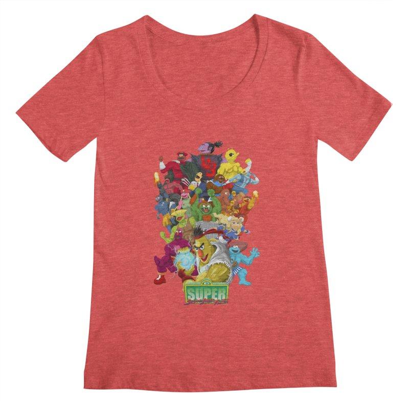 Super Sesame Street Fighter Women's Scoopneck by GabachoTrece's Artist Shop