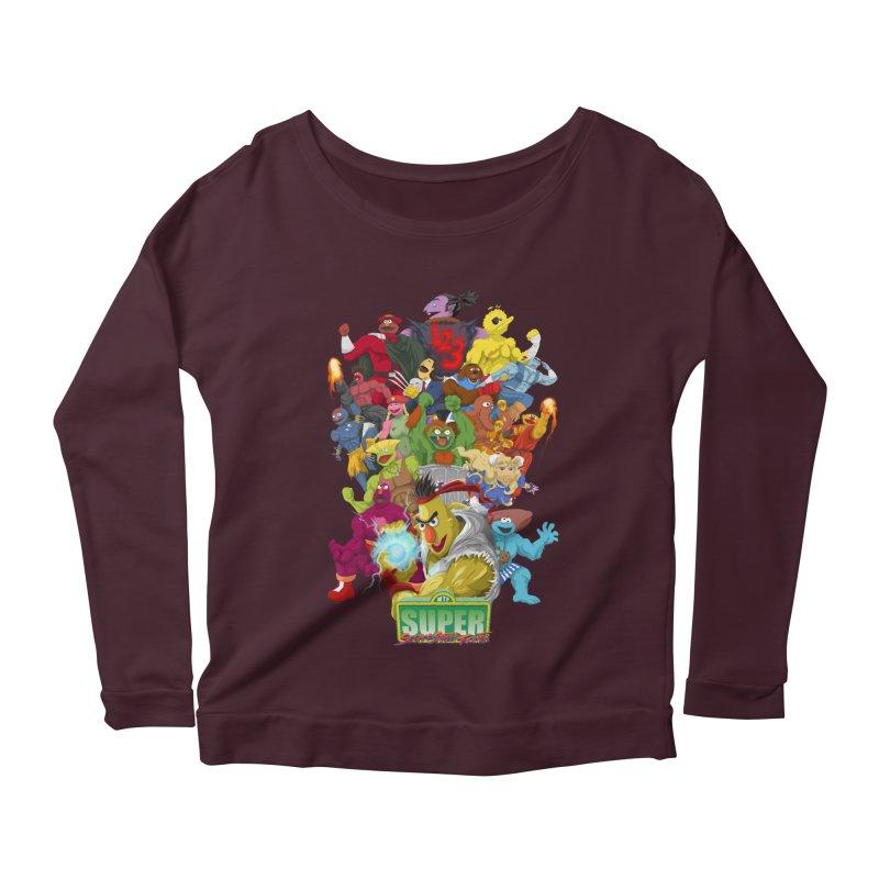 Super Sesame Street Fighter Women's Longsleeve Scoopneck  by GabachoTrece's Artist Shop