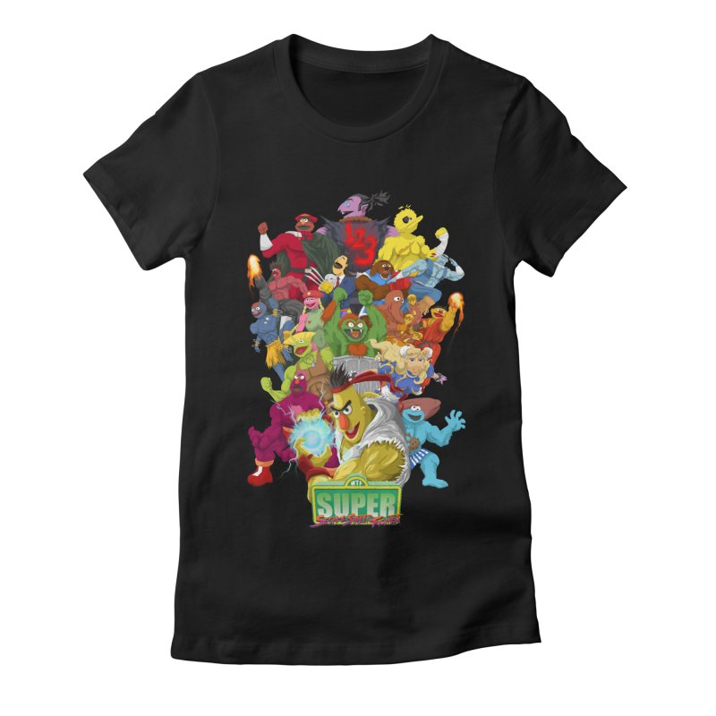 Super Sesame Street Fighter Women's Fitted T-Shirt by GabachoTrece's Artist Shop