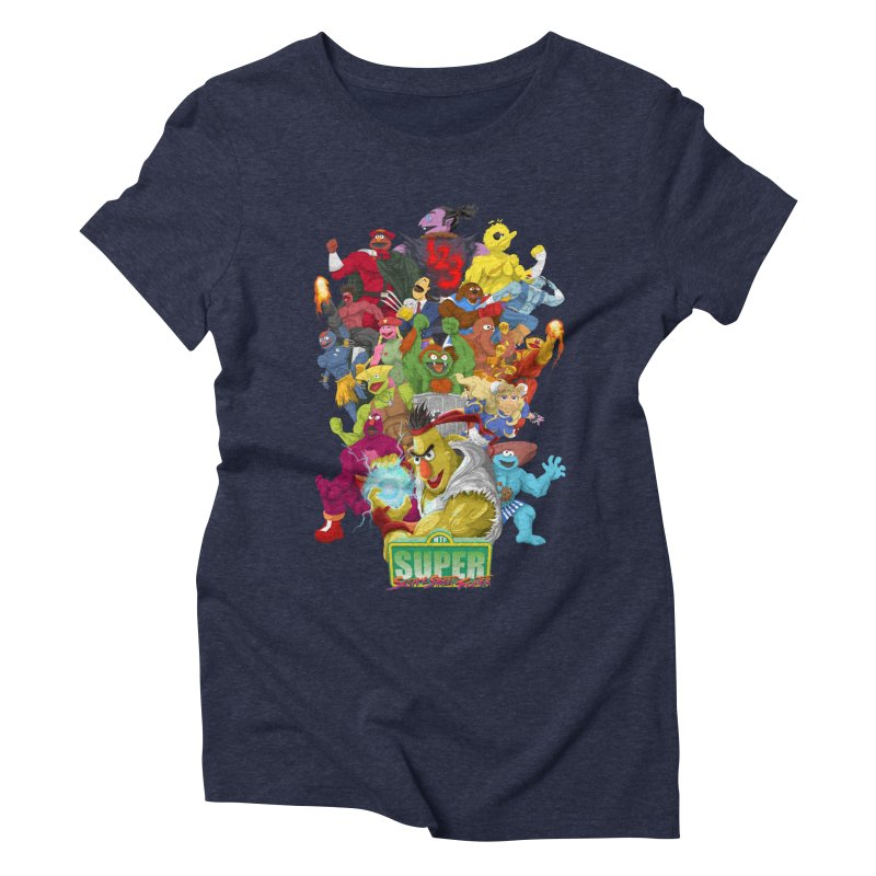Super Sesame Street Fighter Women's Triblend T-shirt by GabachoTrece's Artist Shop
