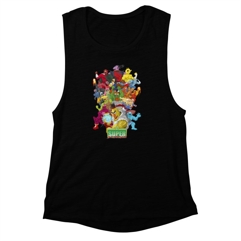 Super Sesame Street Fighter Women's Muscle Tank by GabachoTrece's Artist Shop