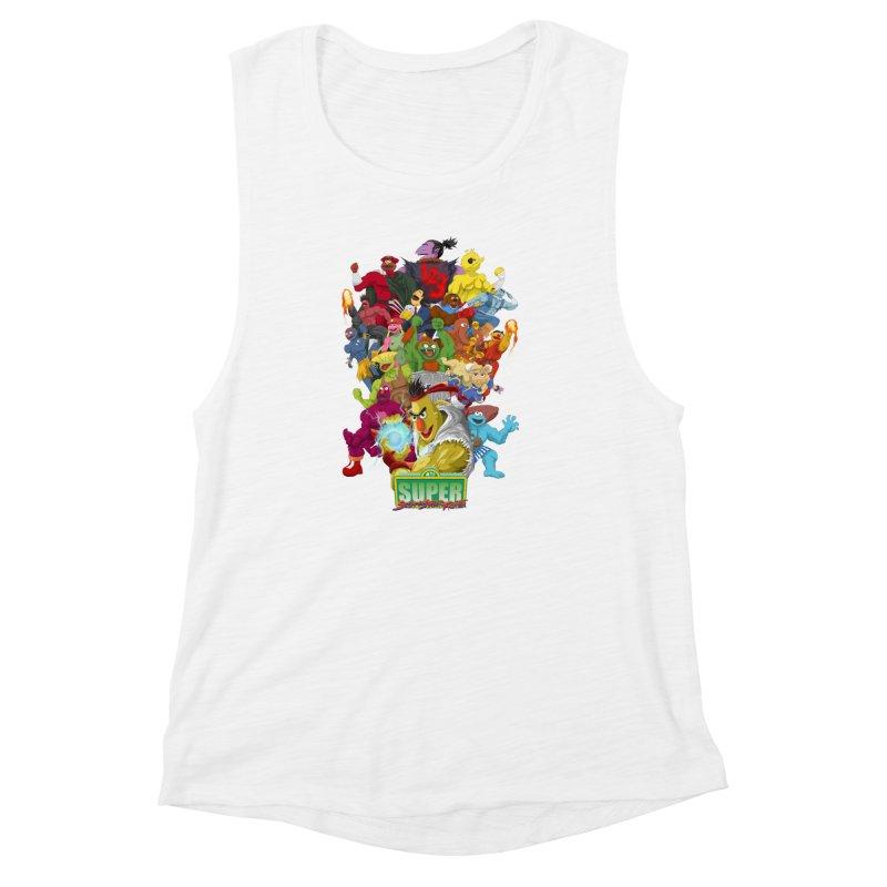 Super Sesame Street Fighter Women's Muscle Tank by GabachoTrece's Artist Shop